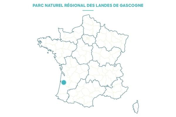 carte France PNR landes Gascogne