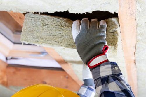 tertiaire-isolation pose panneau isolant plafond