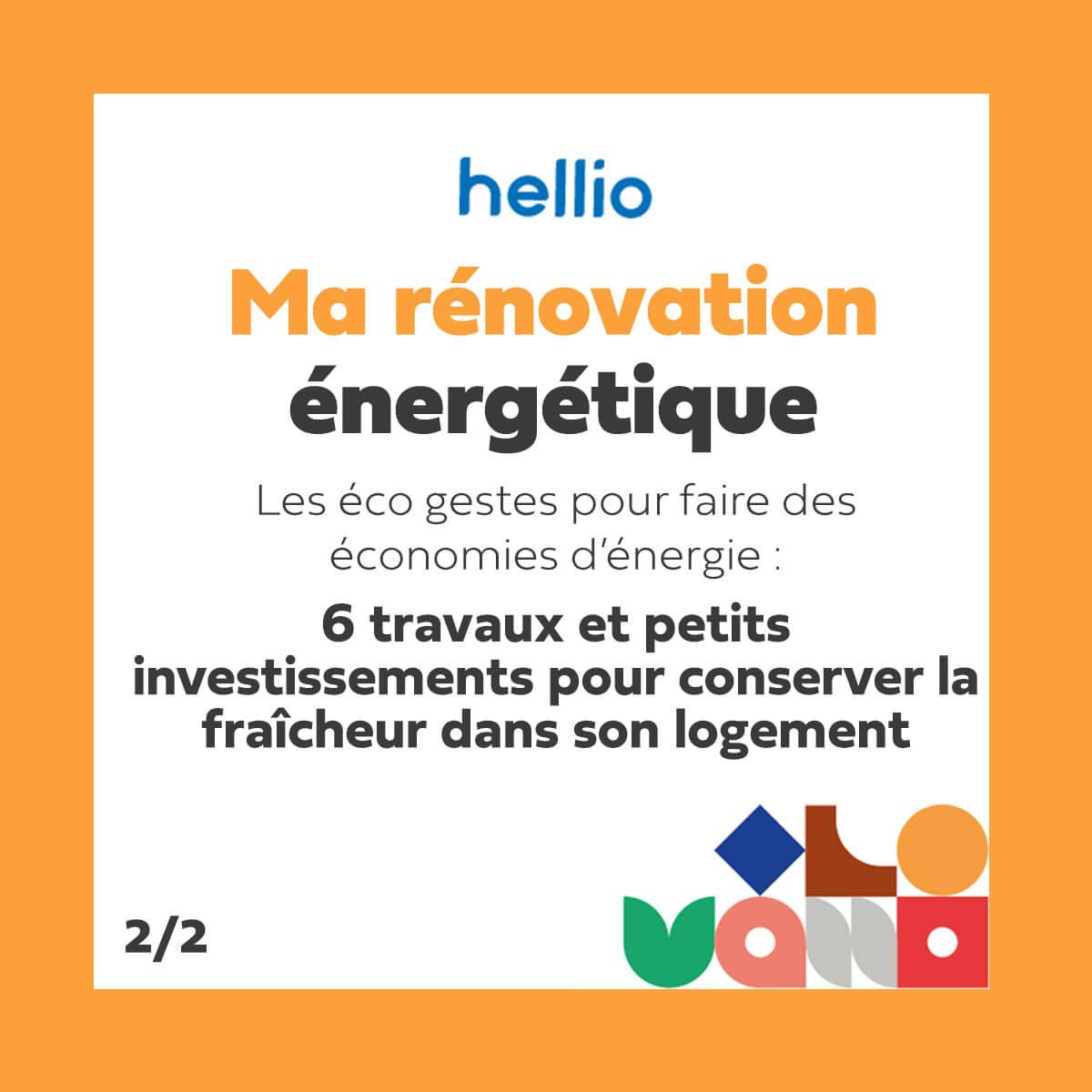 podcast Ma rénovation énergétique Hellio 6 petits travaux pour conserver la fraîcheur dans un logement