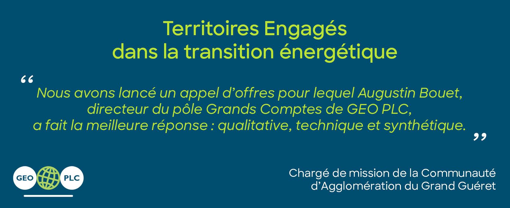 Territoires Engages citation grand gueret