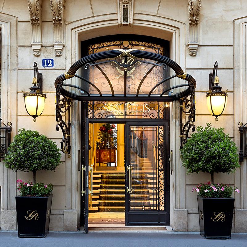 Secteur tertiaire Hellio hôtel San Régis Paris